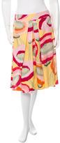 Kenzo Watercolor Print Skirt