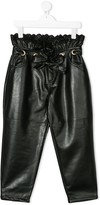 Philosophy di Lorenzo Serafini Kids faux-leather tapered trousers