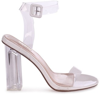 Linzi JOSLIN - White Patent All Over Perspex Heel With Glass Block Heel