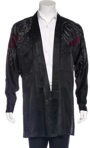 Gucci 2001 Embroidered Silk Kimono Shirt
