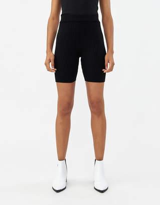 Which We Want Jasmine Knit Biker Short in Black