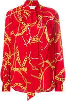 Balenciaga Lavalliere Chain and Jewel print blouse