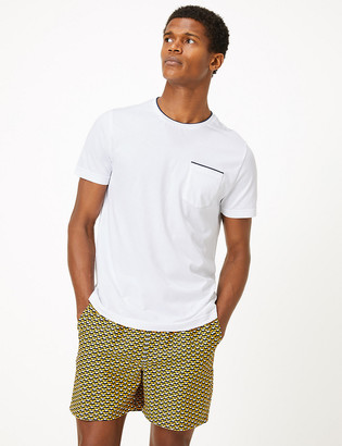 Marks and Spencer Quick Dry Geometric Swim Shorts