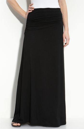 Bobeau Asymmetric Knit Maxi Skirt (Regular & Petite)