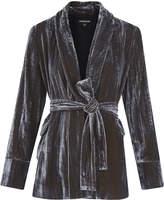 Whistles Crushed Velvet Wrap Jacket