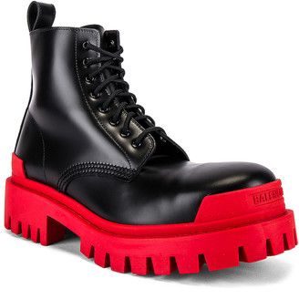 Balenciaga Strike Bootie L20 in Black & Red | FWRD