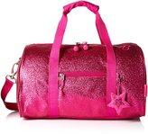 Bixbee Girl's Sparkalicious Glitter Duffle Bag, Ruby