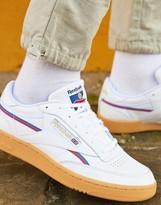 Reebok Classics Club C 85 MU sneakers in white with gum sole