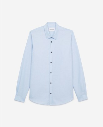 The Kooples Blue cotton shirt for men with breast pocket
