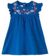 Petit Bateau Baby girls embroidered dress