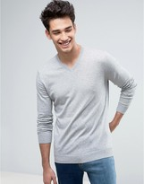 United Colors Of Benetton V-neck Jumper In 100% Cotton