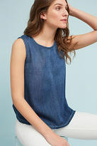 Cloth & Stone Structured Button-Back Denim Tank