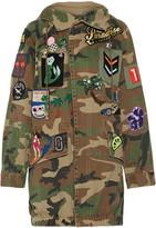 Marc Jacobs Oversized Embellished Camouflage-print Cotton-canvas Jacket