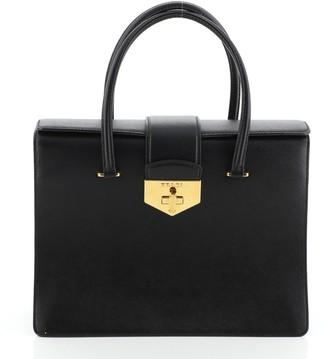 Prada Turnlock Flap Tote Saffiano Leather Medium