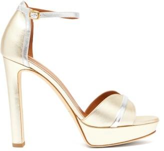 Malone Souliers Miranda Metallic-leather Platform Sandals - Gold