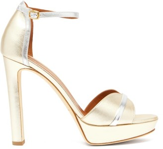 Malone Souliers Miranda Metallic Leather Platform Sandals - Womens - Gold
