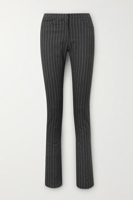 16Arlington Wallis Pinstriped Woven Slim-leg Pants - Dark gray