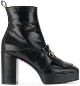 Gucci fringed platform boots