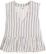 Iris and Ink Striped Jacquard Peplum Top