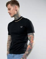 Fred Perry Reissues Tipped Pique T-shirt In Black