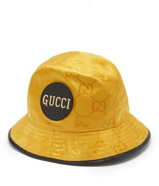 Gucci Off-the-grid Logo-jacquard Bucket Hat - Yellow