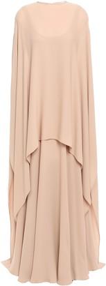Valentino Cape-effect Draped Silk-crepe Gown