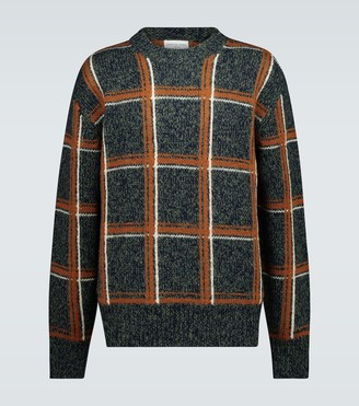 Dries Van Noten Checked knitted sweater