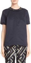 Max Mara Women's 'Reus' Short Sleeve Top With Removable Embellished Collar