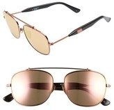 Westward Leaning Women's Malcolm No Middle 55Mm Aviator Sunglasses - Black Matte