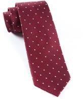 The Tie Bar Grenafaux Dots Burgundy Tie
