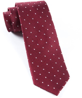 Tie Bar Grenafaux Dots Burgundy Tie