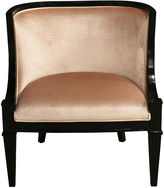 Ave Home Carlyle Lounge Chair, Blush Velvet