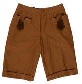 Philosophy di Alberta Ferretti Knee-Length Wool Shorts