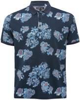 M&Co Floral print polo shirt