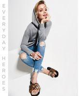 River Island Womens Grey oversized hoodie