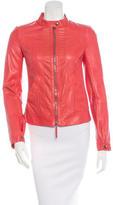 Roberto Cavalli Leather Zipped Jacket