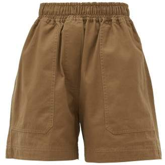 Lee Mathews - Workroom Patch Pocket Organic Cotton Shorts - Womens - Khaki
