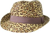 Collection XIIX Women's Leopard Printed Fedora Hat