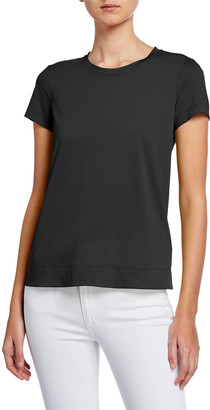 Lafayette 148 New York Modern Short-Sleeve Cotton Jersey Tee