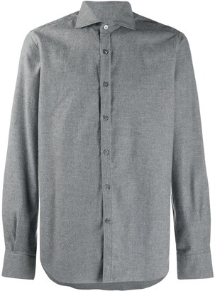 Canali Spread Collar Long-Sleeved Shirt