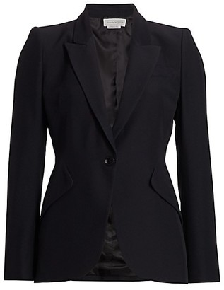 Alexander McQueen One-Button Jacket