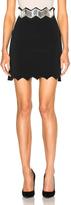 David Koma Embroidered Waistband Skirt