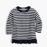 J.Crew Girls' ruffle-hem striped shirt