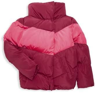Calvin Klein Jeans Girl's Colorblock Puffer Coat