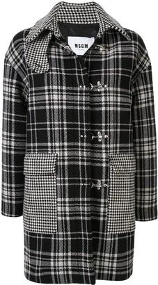 MSGM Plaid Print Coat