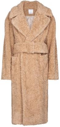 Deveaux Victoria faux fur pea coat