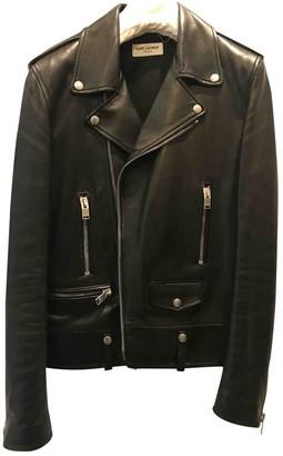 Saint Laurent Black Leather Jackets