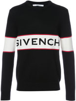 Givenchy logo knit jumper - men - Lambs Wool - M