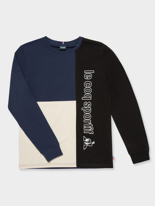 Le Coq Sportif Yves Long Sleeve T-Shirt in Navy