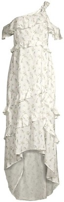 Rachel Zoe Jillian Ruffle Floral High-Low Dress
